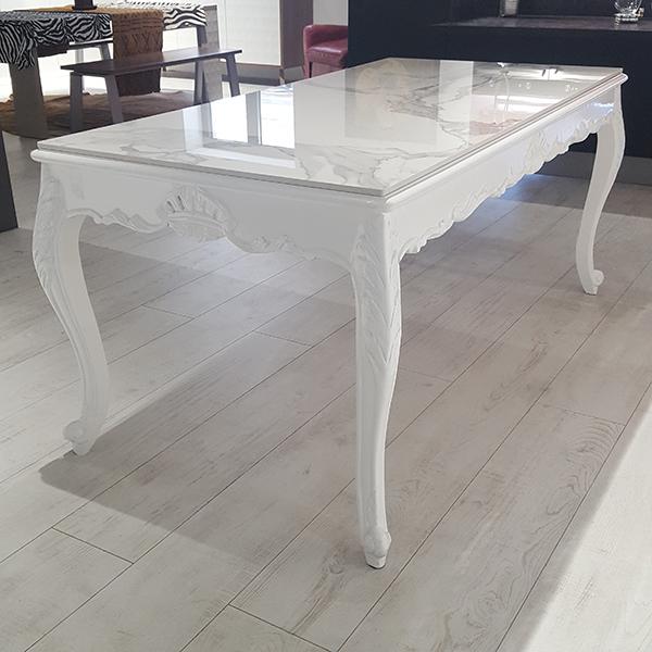 Tavolo Bianco Barocco.Tavolo Barocco Bianco